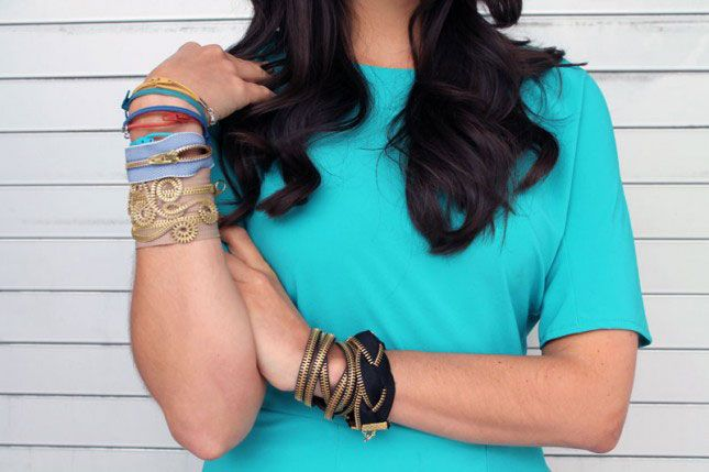 Zipper bracelets | 100 Ways to Repurpose Everything