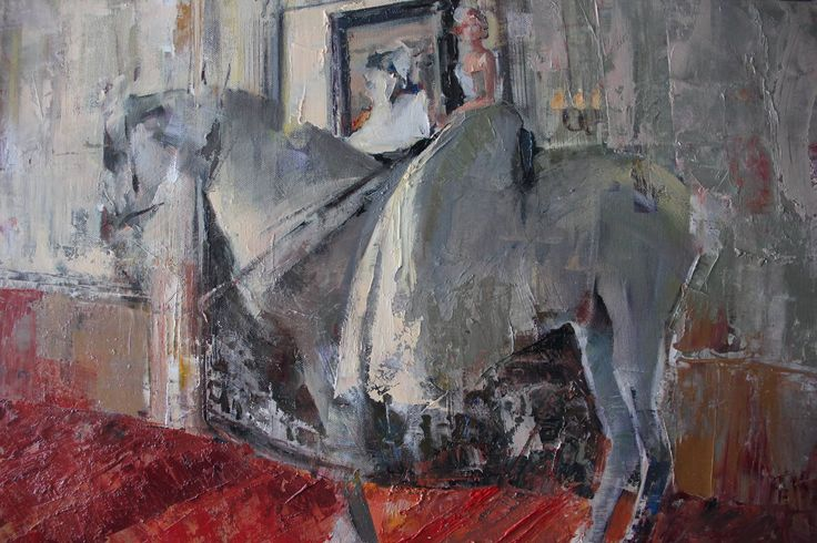 """Saatchi Art Artist: Fanny Nushka Moreaux; Oil 2013 Painting """"Horse in Flat, after a photograph by TIM WALKER"""""""