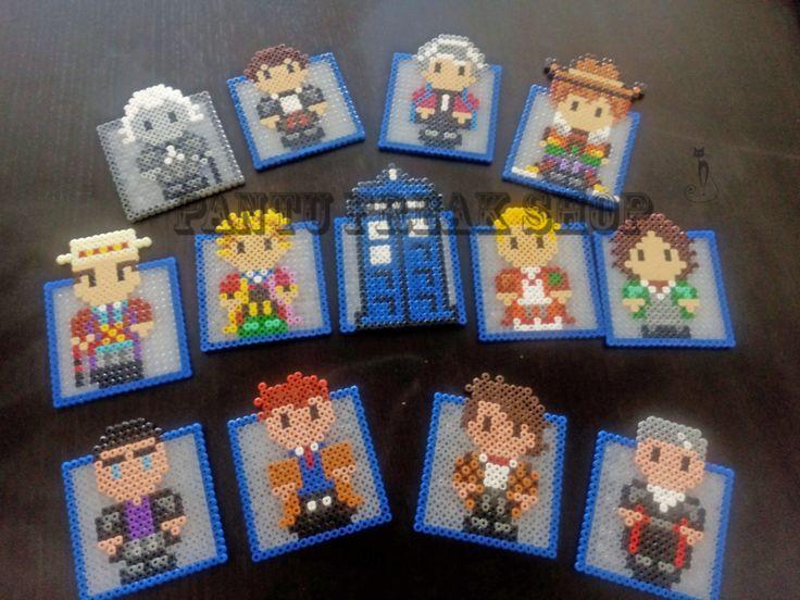 Doctor Who Coaster Set Hama Beads by Pantufreak