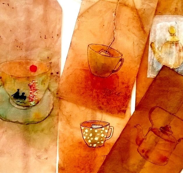 The Naturals, some of my very first tea bags inspired by other tea bag artists! tponcary@aol.com
