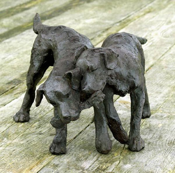 232 best images about Dogs - 3 / Sculpture - Ceramic ...