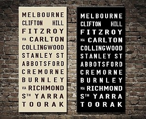 Melbourne Tram scroll - Tram banners Australia