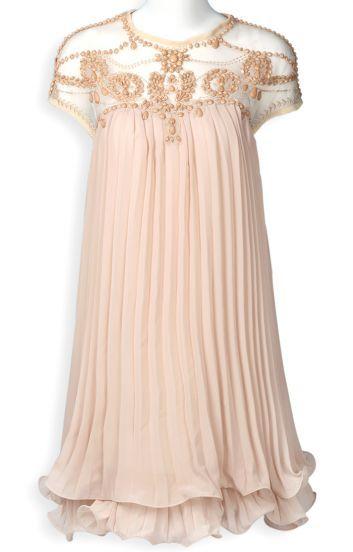 Apricot Chiffon Dress