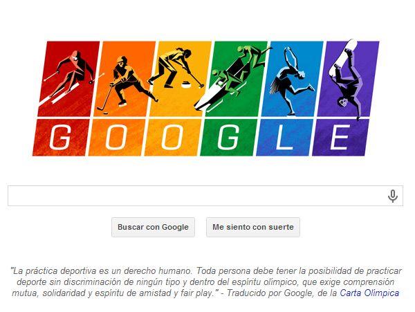Comienzan los juegos de invierno y #Google le realiza un homenaje con un #doodle, además de un fragmento de la carta olímpica.