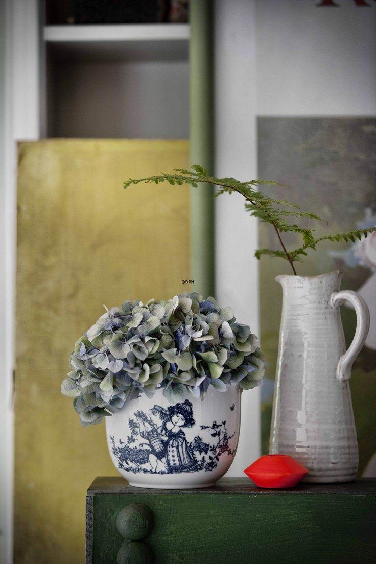 Rosendahl Bjørn Wiinblad urtepotte Rose Garden | blå | Nr. rbw55015 | DPH Trading