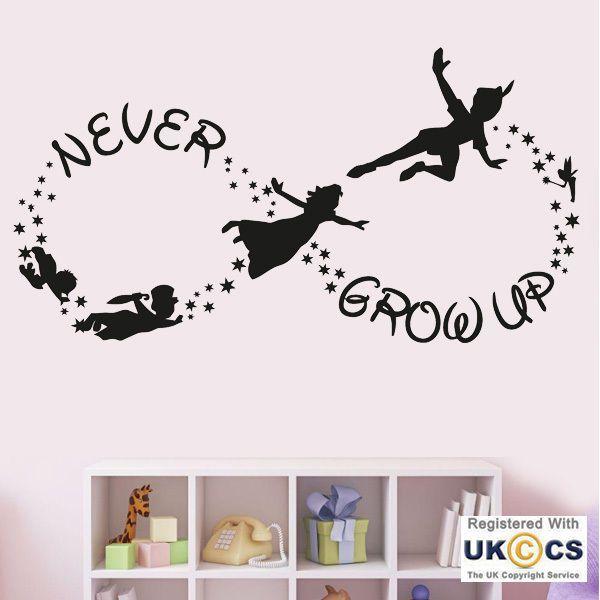 Grow Up Disney Nursery Girls Boys Wall Art Stickers Decals Vinyl Home Room Decor
