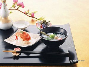 Sushi and Soup Japanese Food u0026 Elegant Tabble Setting & 109 best Japanese table setting images on Pinterest | Japanese table ...
