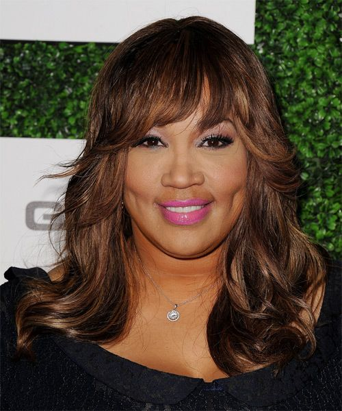Kym Whitley Hairstyle - Long Straight Formal - Medium Brunette. Click on the image to try on this hairstyle and view styling steps!