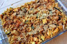 Gerechten zonder pakjes en zakjes #60. Macaroni ovenschotel kip mozzarella tomaat (Honig) -
