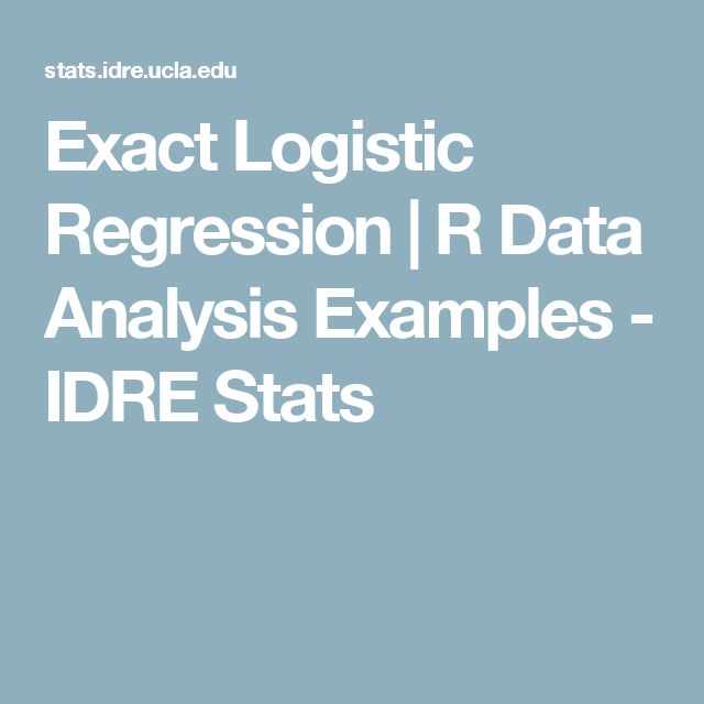 Exact Logistic Regression | R Data Analysis Examples - IDRE Stats