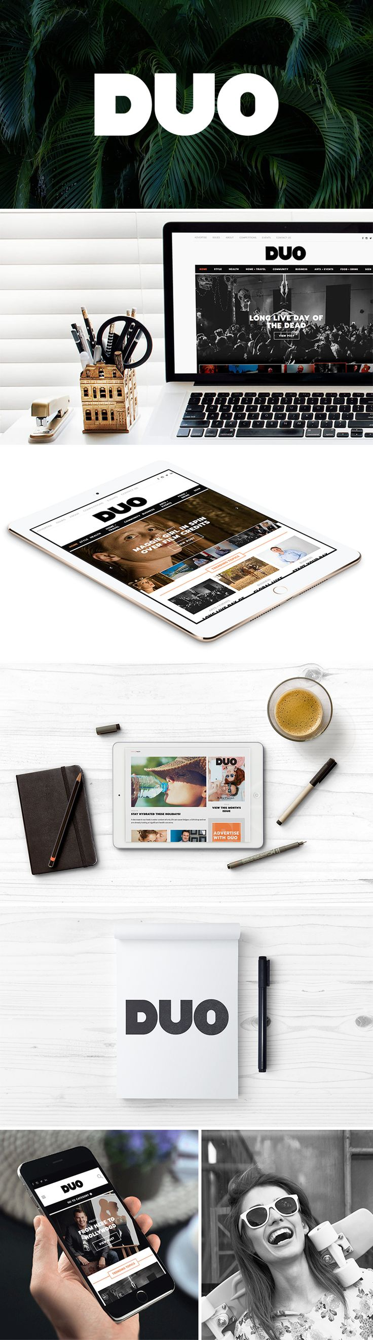 As one of the most-read lifestyle magazines in Townsville, Duo Magazine needed a digital presence that would strengthen its brand and a new website that would mirror the quality of the printed publication. | #logo #website #DUO #design