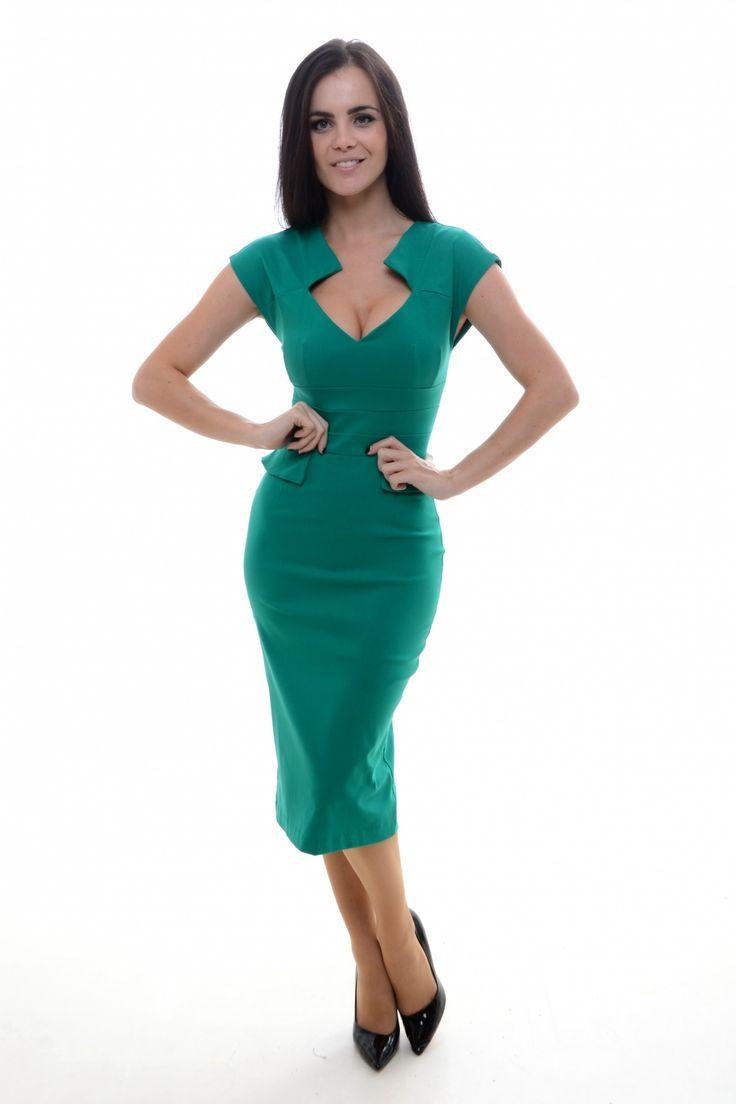 #topvintage So Couture - TopVintage exclusive ~ Harvard Jade Pencil dress