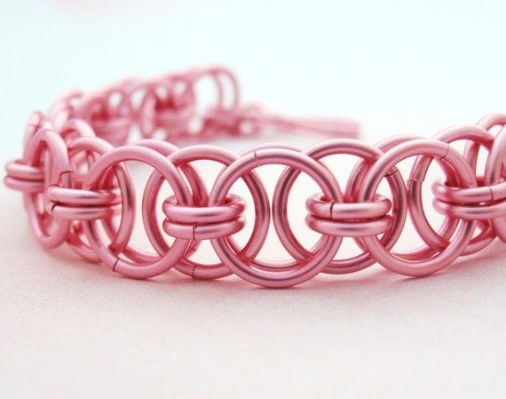 Parallel Chain or Helm Weave Chainmaille Bracelet Kit - Your Pick of 1 or 2 Colors