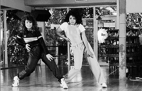 Paula Abdul taught Janet the routines for 'Nasty', 'Control' and 'What Have You Done For Me Lately'. (1988)