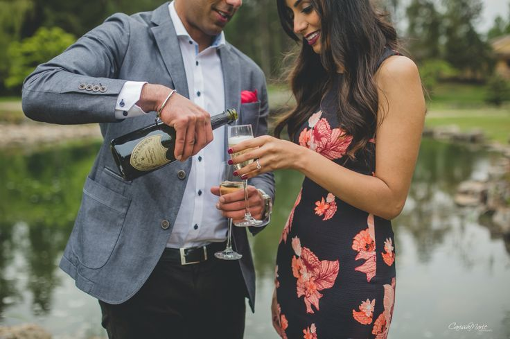 Cheers to the newly engaged couple!
