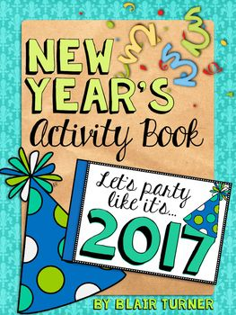 UPDATED for 2017! This fun little activity book is a great way to say goodbye to 2016 and usher in 2017 with your students! The pages are printed 2 to a sheet, so you can copy and cut for each student. Each page has a tab along the left side for you to staple.