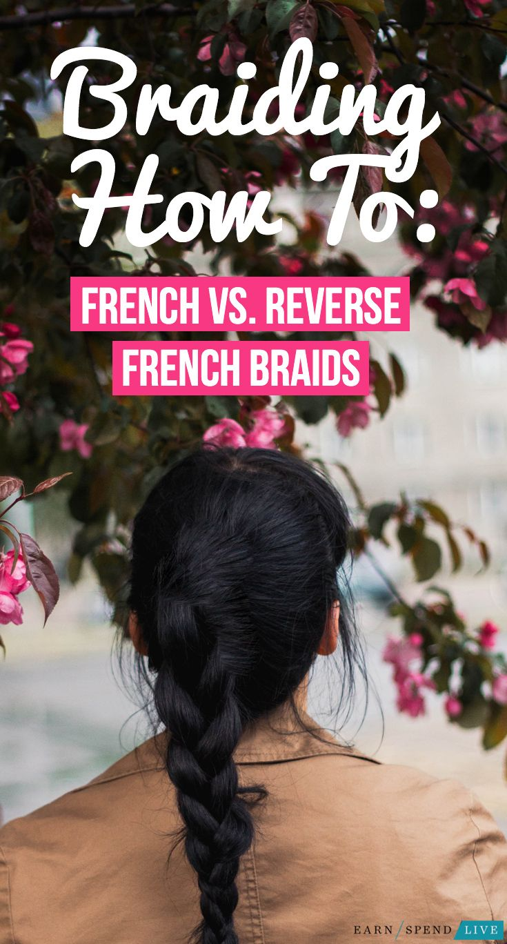 How to French Braid vs. Reverse French Braid. Reverse French braid how to, reverse french braid tutorial, french brain how to, french braid tutorial, hairstyles