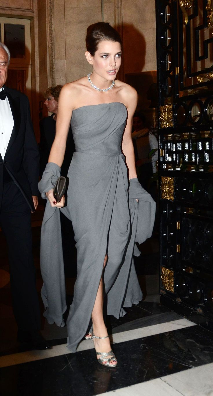 Charlotte Casiraghi wears ELIE SAAB Ready-to-Wear Fall Winter 2012-13 to the 'Cartier Exhibition' in Madrid.