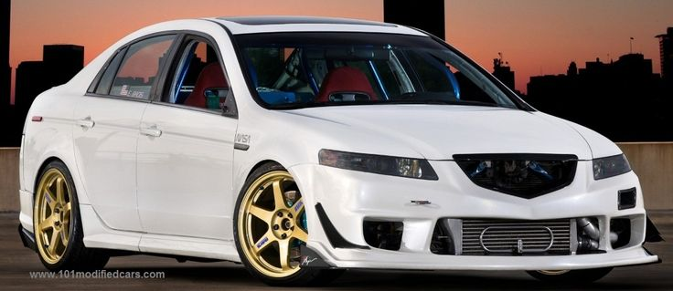 Modified Acura TL (3rd generation, UA6-UA7)  http://www.101modifiedcars.com/2008/11/05/acura-tl-third-generation-3g-ua67/  http://www.1modifiedcars.com/2012/04/15/modified-acura-tl-with-custom-pu-bodykit-and-exe-flair-20-rims/