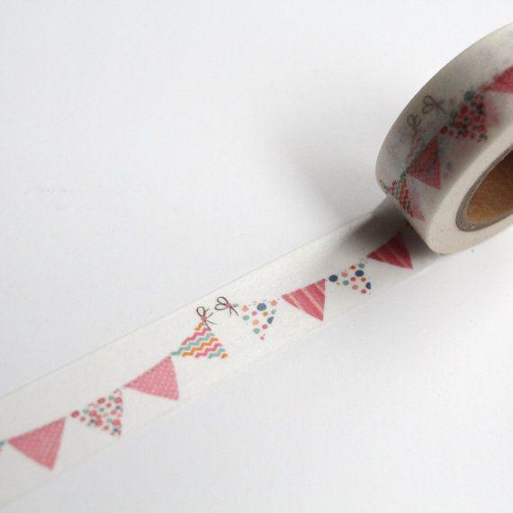 Rosa Escribano Washi Tape, Pastel bandera / Garland arte, cinta Wedding Planner