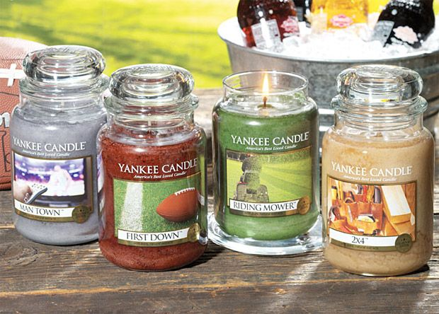 Man Candles by Yankee Candle - what a freaking awesome idea!!! One for the basement and one for my bathroom.  Please.: Yankees Candles, Riding Mower, Men Candles, Gifts Ideas, Yank Candles, Father Day Gifts, Men Town, Scented Candles, Men Caves