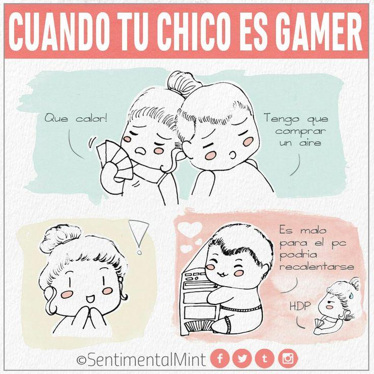 Verano Gamer  Al menos voy a poder disfrutarlo yo también 😅  #TuChicoGamer #amor #calor #cómic #Chibi #computadora #cute #dibujo #gamer #humor #pareja #pc #SentimentalMint #sobrecalentamiento #verano