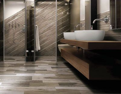 hardy porcelain tile that doubles as painted wood boards - Painted Wood Bathroom Interior