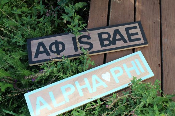 Wooden SORORITY signs by signsbykait on Etsy