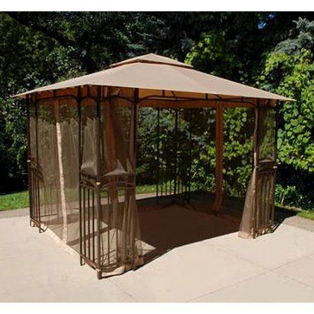 Garden Winds Replacement Canopy Top and Side Mosquito Setting for Curved Corner Panel Gazebo, RipLock 350 - Walmart.com