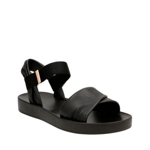 Seanna Sun Black Leather womens-sandals