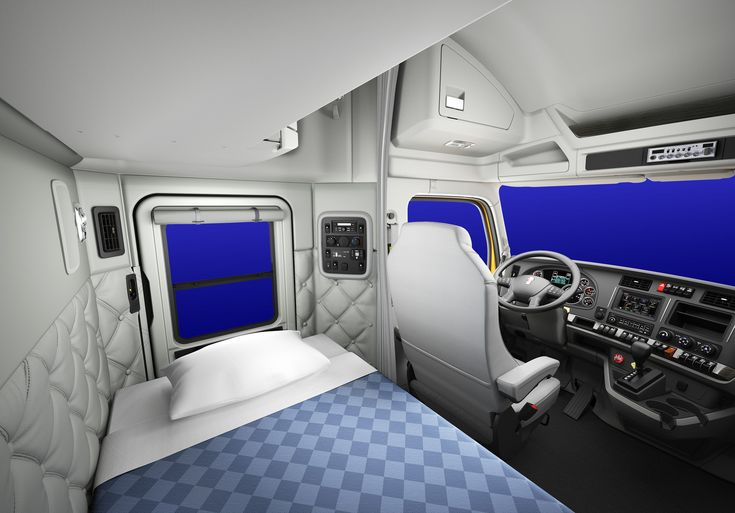 Kenworth sleeper cabs interior view bing images motorhomes and rvs pinterest semi trucks for Semi truck sleeper cab interior