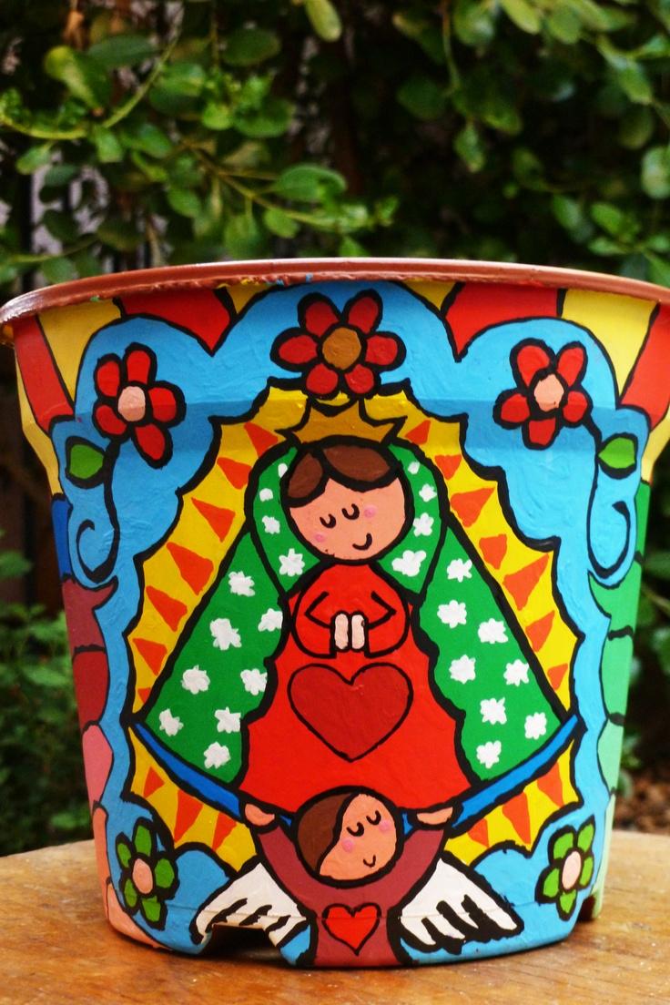 La Virgen de Guadalupe~ garden pot