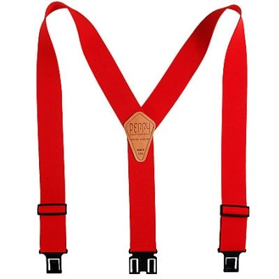 Perry Products Y-Back Red Suspenders SN200 R RED