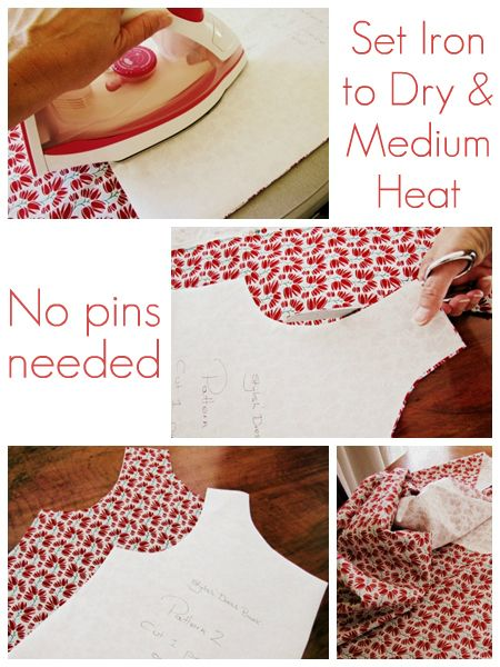 Cutting sewing patterns the easy way.