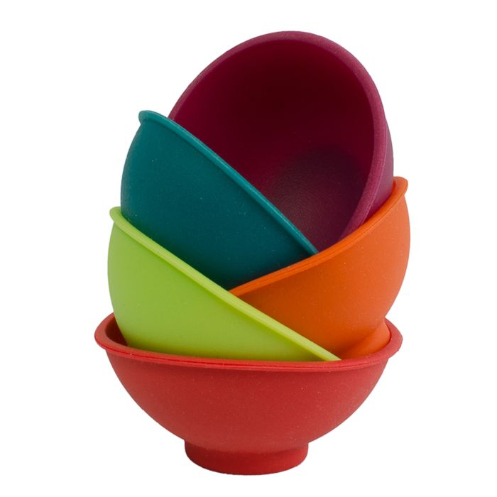 This set of 5 colourful and flexible mini silicone pinch bowls are an ideal addition to your kitchen or dining table. Perfect for the home chef, baking enthusiast or entertainer, these funky little bowls pinch together to easily pour ingredients and are perfect for holding spices, sauces, condiments and baking ingredients. www.livvi.com.au