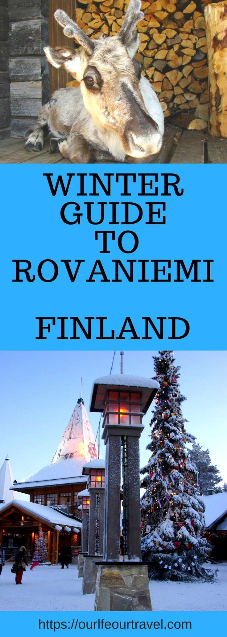 Rovaniemi (Lapland) Winter Activity and Sightseeing Guide. Are you looking for a perfect winter holiday destination? Need an inspiration for Christmas break? Are you dreaming of deep and white snow-covered landscape and have an active holiday at the same time? Ice fishing, snowmobile driving, riding by a reindeer or husky sled, huntingfor northern lights, and last but not least, you can meet with Santa too! #rovaniemi #lapland #winter #finland