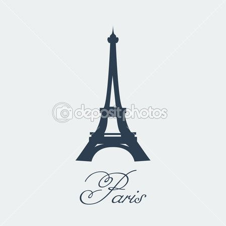 Torre eiffel paris — Vector de stock #65689499