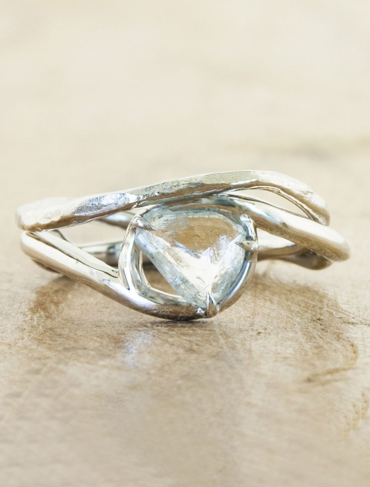 Unique Organic - nature-inspired engagement rings with rough diamonds by Ken & Dana Design in NYC