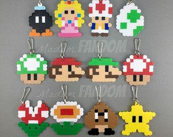 12 pcs Super Mario Party Favors Zipper Pulls I Super Mario Party Decorations I Video Game Party Favors I  Mario Birthday Ideas