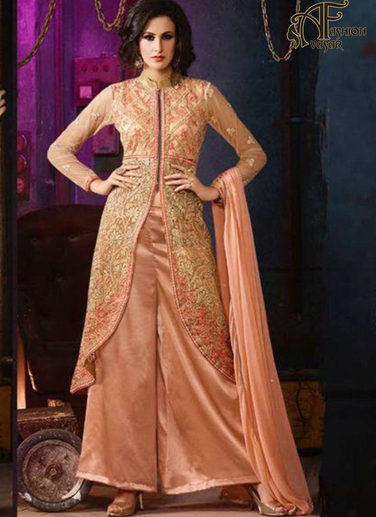 orange salwar suits online – indian net designer salwar kameez online shopping