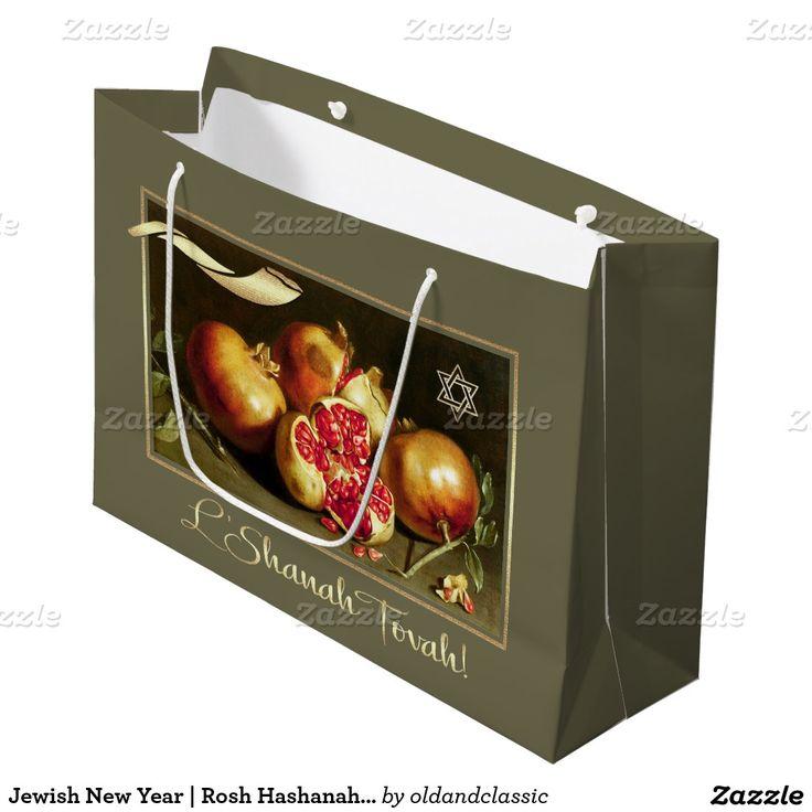 Jewish New Year | Rosh Hashanah Gift Bags | Zazzle.com ...