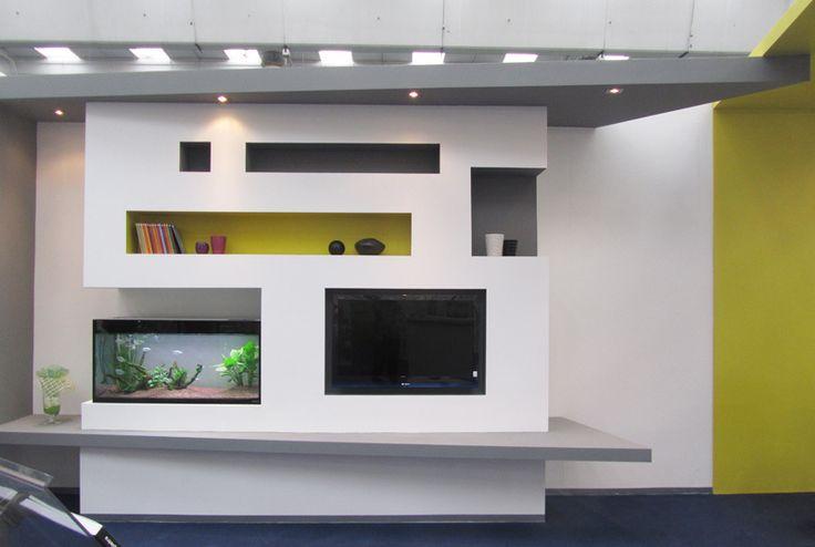 Caminetti Moderni In Cartongesso : Idee parete soggiorno in cartongesso trendy caminetti moderni