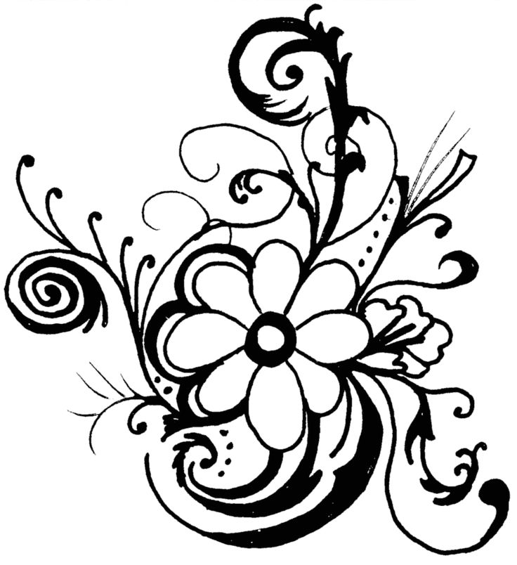 Floral Art Line Design : Best flower border clipart ideas on pinterest