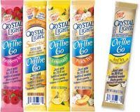 add Crystal Light drink powder to plain Greek Yogurt. Brilliant! Not only is the plain version more than twice the protein (23 grams per serving), adding the powder gives you so many flavor options while adding very few calories.
