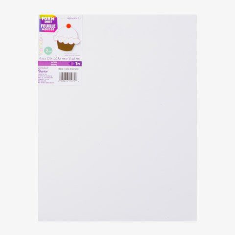 Bulk Buy: Darice Foamies Foam Sheet White 2mm thick 9 x 12 inches 1144-13