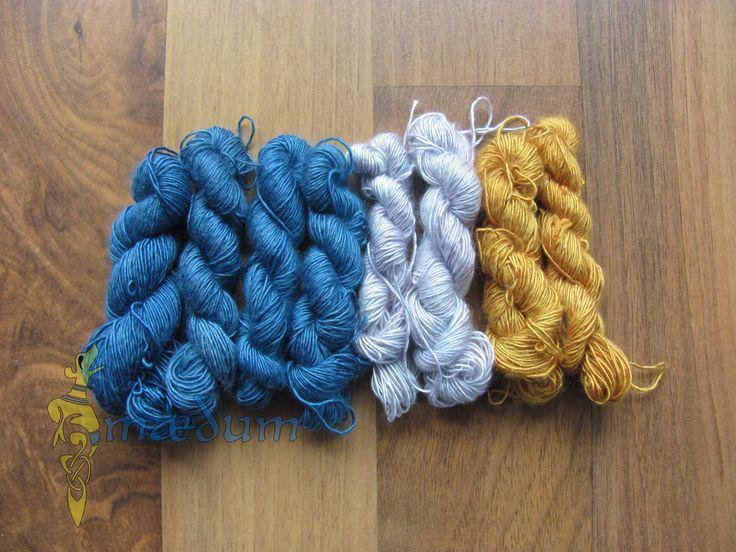 Pflanzenfarben auf Seide Plant dyed silk threads