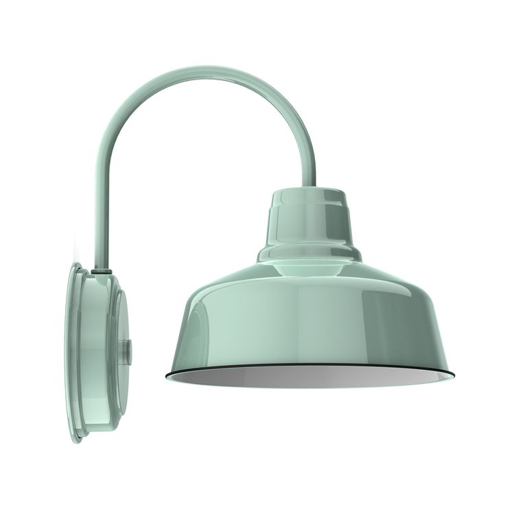 """3rd floor bathJust like its cousin the Goodrich Esso Gooseneck, the Wheeler Esso Wall Sconce packs a lot of punch in a smaller size. Available in an 8"""" or 10"""" shade, this classic light is perfect for tighter spaces like closets, hallways,..."""