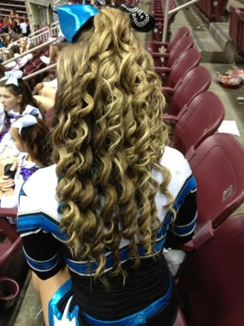 Competition cheerleading hair