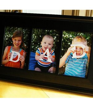 Father's Day Craft: A Special Frame for Dad « Canadian Family...would be so cute if we got the kids together and said Papa or Papaw!