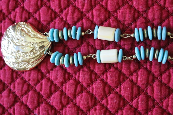 Monet Casual Turquoise and Natural Beaded by KeepGrandmaBusy, $17.99
